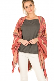I love my Moment | Poncho Magda | roze  | Afbeelding 2