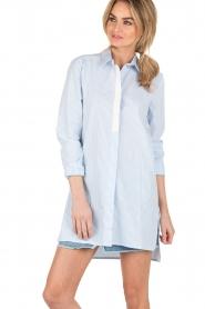 Dante 6 | Lange blouse Rosier | blauw  | Afbeelding 2