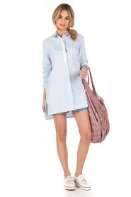 Dante 6 | Lange blouse Rosier | blauw  | Afbeelding 3