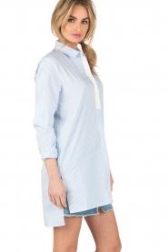 Dante 6 | Lange blouse Rosier | blauw  | Afbeelding 4