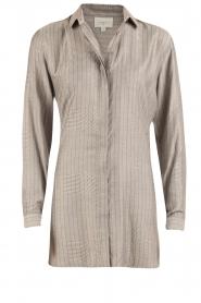 Dante 6 | Lange blouse Floryn | zwart/wit  | Afbeelding 1