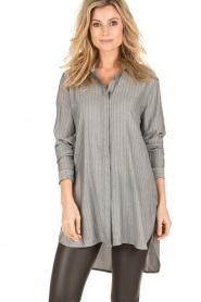 Dante 6 | Lange blouse Floryn | zwart/wit  | Afbeelding 2