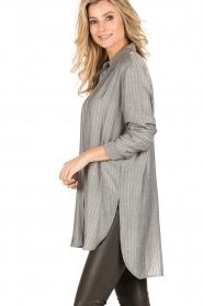 Dante 6 | Lange blouse Floryn | zwart/wit  | Afbeelding 4