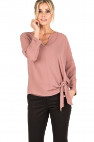 Dante 6 |  Blouse with knot detail Gail | old pink  | Picture 2