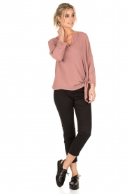 Dante 6 |  Blouse with knot detail Gail | old pink  | Picture 3
