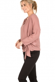 Dante 6 |  Blouse with knot detail Gail | old pink  | Picture 4