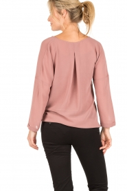 Dante 6 |  Blouse with knot detail Gail | old pink  | Picture 5