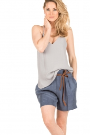 Dante 6 | Highwaisted shorts Nyna | blauw  | Afbeelding 2
