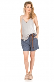 Dante 6 | Highwaisted shorts Nyna | blauw  | Afbeelding 3