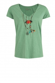 Leon & Harper | T-shirt Tintin | groen  | Afbeelding 1