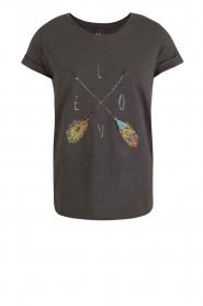 Leon & Harper | T-shirt Tova | zwart  | Afbeelding 1