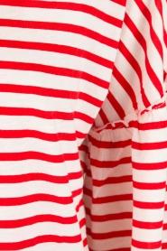 Leon & Harper | Top Tamy | wit/rood  | Afbeelding 6
