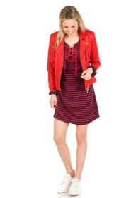 Leon & Harper |  Dress Realyn | dark blue/red  | Picture 3