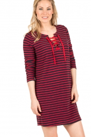 Leon & Harper |  Dress Realyn | dark blue/red  | Picture 4