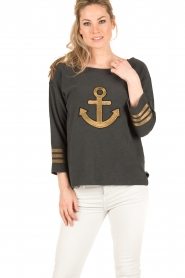 Leon & Harper |  Sweater Anchor | dark grey  | Picture 2