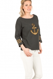 Leon & Harper |  Sweater Anchor | dark grey  | Picture 4