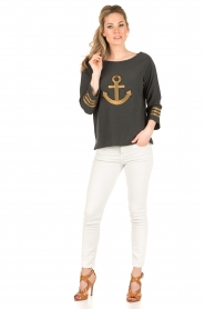 Leon & Harper |  Sweater Anchor | dark grey  | Picture 3