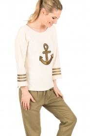 Leon & Harper |  Sweater Anchor | off-white  | Picture 4