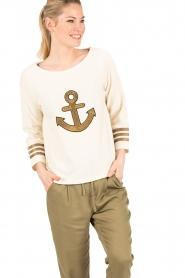 Leon & Harper |  Sweater Anchor | off-white  | Picture 2