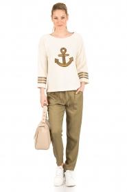 Leon & Harper |  Sweater Anchor | off-white  | Picture 3