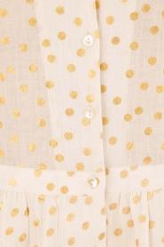 Leon & Harper | Midi blousejurk Roland | gebroken wit  | Afbeelding 6