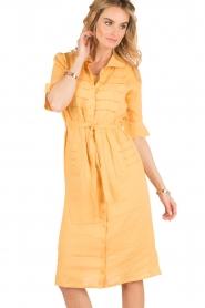 Hoss Intropia | Linnen blousejurk Macy | geel  | Afbeelding 2