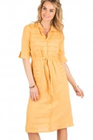 Hoss Intropia | Linnen blousejurk Macy | geel  | Afbeelding 3