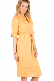Hoss Intropia | Linnen blousejurk Macy | geel  | Afbeelding 4