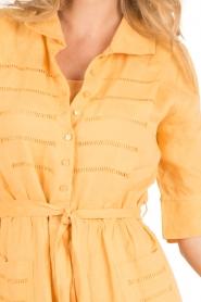 Hoss Intropia | Linnen blousejurk Macy | geel  | Afbeelding 6