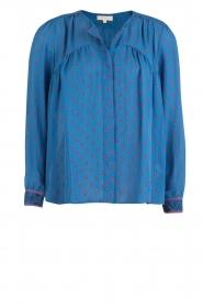 Hoss Intropia | Zijden blouse Alita | blue  | Afbeelding 1