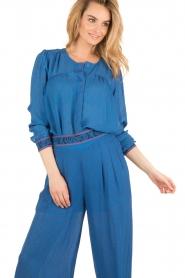 Hoss Intropia | Zijden blouse Alita | blue  | Afbeelding 2