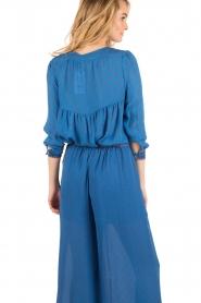 Hoss Intropia | Zijden blouse Alita | blue  | Afbeelding 5