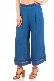 Hoss Intropia |  Silk pants Alita | blue  | Picture 2