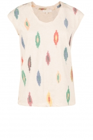 Hoss Intropia | T-shirt Ikat | naturel  | Afbeelding 1