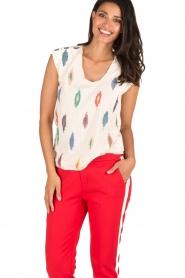 Hoss Intropia | T-shirt Ikat | naturel  | Afbeelding 2