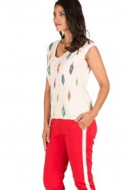 Hoss Intropia | T-shirt Ikat | naturel  | Afbeelding 4