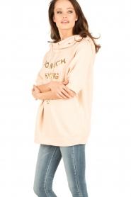 ELISABETTA FRANCHI   Oversized sweater Carla   Nude    Afbeelding 4
