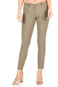 ELISABETTA FRANCHI | Skinny pantalon Felicia | khaki  | Afbeelding 2
