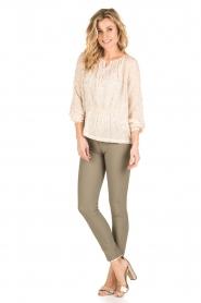 ELISABETTA FRANCHI | Skinny pantalon Felicia | khaki  | Afbeelding 3