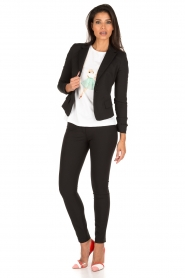 ELISABETTA FRANCHI | Skinny pantalon Felicia | zwart  | Afbeelding 3