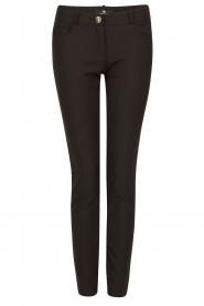 ELISABETTA FRANCHI | Skinny pantalon Felicia | zwart  | Afbeelding 1