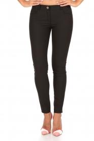 ELISABETTA FRANCHI | Skinny pantalon Felicia | zwart  | Afbeelding 2