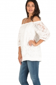 Ana Alcazar | Off-shoulder top Louiza | wit  | Afbeelding 4