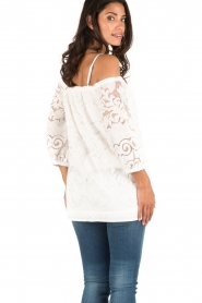 Ana Alcazar | Off-shoulder top Louiza | wit  | Afbeelding 5