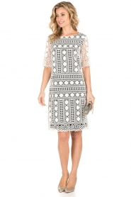 Ana Alcazar |  Lace dress Lora | black-white  | Picture 3