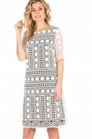 Ana Alcazar |  Lace dress Lora | black-white  | Picture 2
