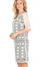 Ana Alcazar |  Lace dress Lora | black-white  | Picture 4