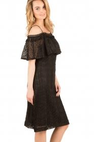 Ana Alcazar |  Lace off-shoulder dress Raven | black  | Picture 4