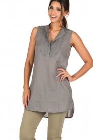 Ruby Tuesday |  Tunic top Zami | grey  | Picture 2