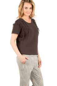 Ruby Tuesday |  Knitted top Uno | dark grey  | Picture 4